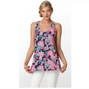 Lilly Pulitzer Tank Top Sz XS Cherry Picker Floral